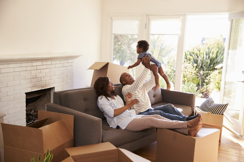 Family settling in