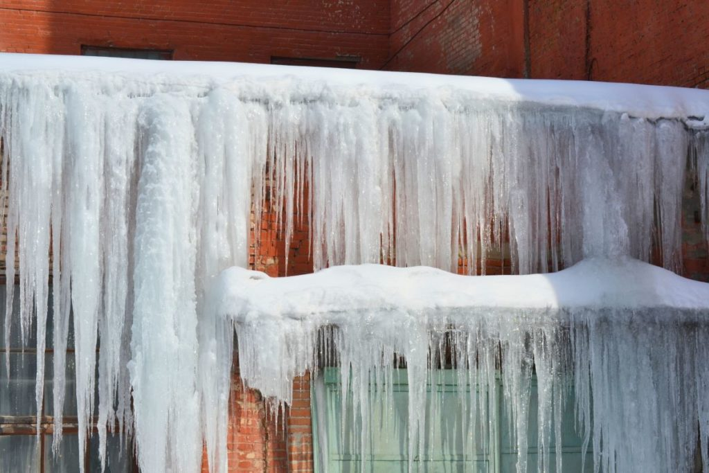 icing on wooden house